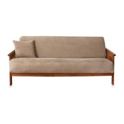 Sure Fit - Sure Fit Soft Suede Futon Slipcover - Add a clean, sleek look to your furniture with covers that have the look and feel of suede. With memory stretch fabric and an easy zipper back enclosure, this futon cover goes on easily and stays in place.
