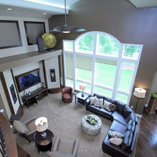 Transitional Living Room by Craftsman Construction