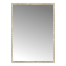 "Posters 2 Prints, LLC - 39"" x 54"" Libretto Antique Silver Custom Framed Mirror - 39"" x 54"" Custom Framed Mirror made by Posters 2 Prints. Standard glass with unrivaled selection of crafted mirror frames.  Protected with category II safety backing to keep glass fragments together should the mirror be accidentally broken.  Safe arrival guaranteed.  Made in the United States of America"