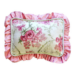 New Arrivals - New Arrivals Throw Pillow - Roses for Bella - The 12 x 16 New Arrivals Throw Pillow - Roses for Bella are a perfect way to finish a room. Removable insert for easy cleaning. Custom made in the USA. Please allow 3 - 4 weeks for delivery.