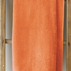 Garnet Hill - Garnet Hill Signature 600-Gram Cotton Bath Towels - Face Cloth, Pair - Tangerine - These thirsty bath towels are made of the finest long-staple Egyptian cotton. The extra-thick 600-gram cotton terry has long loops that are specially finished to provide maximum absorbency. Double-stitched hems for durability. Generously sized, these towels are made in Turkey exclusively for Garnet Hill. Bath mat is 800-gram terry. Monogramming is available.