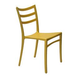 ARTeFAC - Stackable Modern Chair for Indoor/Outdoor in 6 Colours, Yellow - R-2015 Stackable Modern Chair for Indoor/Outdoor in Red