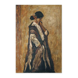 Uttermost - Grace Feyock Serenity Traditional Picture - This hand-painted oil is painted on burlap attached to a hardboard. the outer edges are black. Due to the handcrafted nature of this artwork, each piece may have subtle differences.