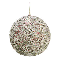 Silk Plants Direct - Silk Plants Direct Metallic Yarn Ball Ornament (Pack of 3) - Red White - Pack of 3. Silk Plants Direct specializes in manufacturing, design and supply of the most life-like, premium quality artificial plants, trees, flowers, arrangements, topiaries and containers for home, office and commercial use. Our Metallic Yarn Ball Ornament includes the following: