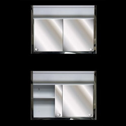 Ketcham 24W x 19H-in. Sliding Door Surface Mount Medicine Cabinet with Light - The Ketcham 24W x ...