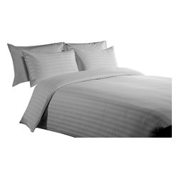 """400 - 400 TC 15"""" Deep Pocket Sheet Set with 4 Pillowcase Silver Grey, Queen - You are buying 1 Flat Sheet (98 x 102 inches) , 1 Fitted Sheet (60 x 80 inches) and 4 Standard Size Pillowcases (20 x 30 inches) only."""