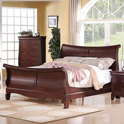 "Acme Furniture - Verona Queen Bed in Dark Cherry - Verona Queen Bed in Dark Cherry; Finish: Dark Cherry; Dimensions: 55""H"