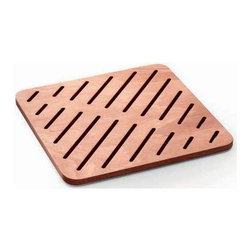 WS Bath Collections - 29.5 in. Shower Mat in Marine Plywood - Modern/contemporary design. Water Resistant. For Use Inside or Outside of Shower. Designer High End Quality. Warranty: One year. Made from solid okume wood. Made by Lineabeta of Italy. No assembly required. 29.5 in. L x 29.5 in. W x 0.8 in. H (14 lbs.). Spec SheetUnique and fine bath accessories and complements, that provide inspirational solutions for every decor.