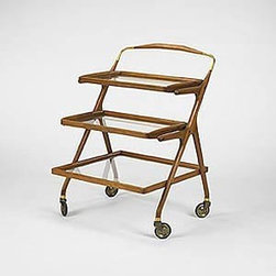 Italian - Mid Century Modern Bar/Serving Cart, Cesare Lacca Made in Italy - Italy