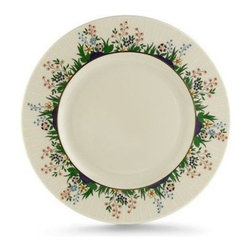 Lenox Rutledge 9 in. Accent Plate - Make your food the center of attention with the Lenox Rutledge 9 in. Accent Plate. As lovely as a spring day, this durable and versatile plate features a colorful border of flowers with hand-applied enameling and 24-karat gold accents for added style and visual interest. Perfect for everything from cheese and crackers to homemade brownies, this plate is crafted in the USA of ivory fine china. It's dishwasher-safe for easy cleanup.About LenoxThe Lenox Corporation is an industry leader in premium tabletops, giftware, and collectibles. The company markets its products under the Lenox, Dansk, and Gorham brands, propelled by a shared commitment to quality and design that makes the brands among the best known and respected in the industry. Collectively, the three brands share 340 years of tabletop and giftware expertise.