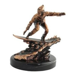 BA - 9 Inch Copper Color Male Snowboarding Figurine Statue - This gorgeous 9 Inch Copper Color Male Snowboarding Figurine Statue has the finest details and highest quality you will find anywhere! 9 Inch Copper Color Male Snowboarding Figurine Statue is truly remarkable.