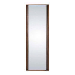 Bryght - Fennel Walnut Floor Mirror - Bring depth and texture to a space with the sophisticated Fennel mirror collection. Also available in a Black finish.