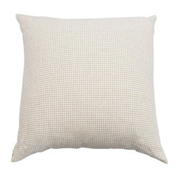 Used Beige & White Houndstooth Pillow - A custom beige and white houndstooth pillow. Perfect for the sofa or bed!