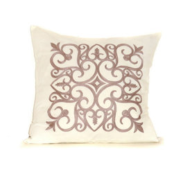 None - Heritage 20-inch Down Throw Pillow - This down throw pillow will be the perfect accessory to add that finishing touch to your decor. The zipper removable cover is 100-percent for softness and durability.