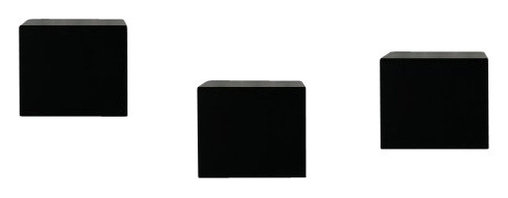 Welland - Wall Block Cubes Set, 6 Inch, Black - Solid wood block shelves become functional art. Line them up in a horizontal row, stack vertically or create a stair-step effect. Ideal for balancing tea candles, display your collection of vintage tea cups or stand alone as sculptural wall art.