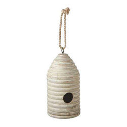 MIDWEST CBK - Functional Hand Carved Beehive Birdhouse - Functional Hand Carved Beehive Birdhouse. Shop home furnishings, decor, and accessories from Posh Urban Furnishings. Beautiful, stylish furniture and decor that will brighten your home instantly. Shop modern, traditional, vintage, and world designs.