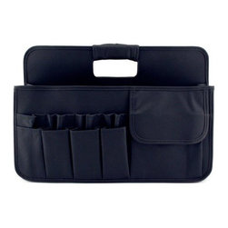 Neatnix - Stuff Craft Tool Box, Black - Our Stuff Craft Tool Box is ready to organize and sort out your everything from your craft tools and jewelry to cosmetics. Includes two divided sections and 15 exterior pockets.