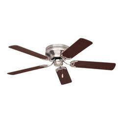 Emerson - Emerson Contemporary Snugger 52 Ceiling Fan in Brushed Steel - Emerson Contemporary Snugger 52 Model CF805SBS in Brushed Steel with Reversible Dark Cherry/Mahogany Finished Blades.