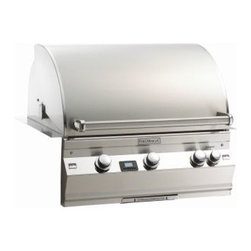 "Fire Magic - Aurora A660i1L1N Built In NG Grill with Left Side Infrared Burner - A660 Built In Grill Only with Factory Installed Left Side Infrared BurnerA660i Features: Cast stainless steel ""E"" burners - guaranteed for life"