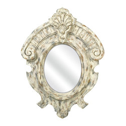 iMax - iMax Fleming Mirror X-02147 - This rustic French inspired mirror's ornate look gives any room a refined appearance.