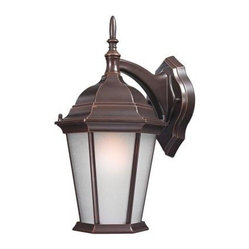 Design Outdoor Lanterns. Wall-Mount 15.5 in. Outdoor Old Bronze Lantern with Whi