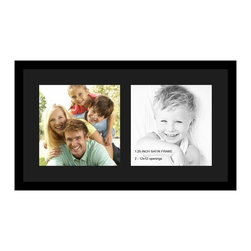 ArtToFrames - ArtToFrames Collage Photo Frame  with 2 - 12x12 Openings and Satin Black Frame. - Your one-of-a-kind photos deserve one-of-a-kind frames, but visiting a custom frame shop can be time consuming and expensive. ArtToFrames extensive and growing line of inexpensive multi opening Photo Mats will get you the look you want at a price you can afford. Our Photo Mats come in a variety of sizes and colors and can be custom made to your needs. Frame choices range from traditional to contemporary, with both single and multiple photo opening mat options. With our large selection of custom frame and mat choices, the design possibilities are limitless. When you're done, you'll have a unique custom framed photo that will look like you spent a fortune at a frame shop. Your frame will be delivered directly to your front door or sent as a gift straight to your recipient. _.:*~*:._ Product SKU # - Double-Multimat-1413-89/89-FRBW26079