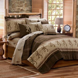 Kimlor Mills - Pink Buckmark Duvet Cover Set - The popular Browning Buckmark logo print of this duvet cover set will add a rustic appeal to your bedroom. Perfect for the avid hunter, cabin decor or any bedroom. Coordinating accessories sold separately.