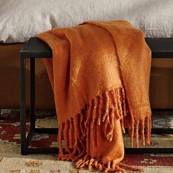 Faux Solid Mohair Oversize Throw - I would happily toss this cozy faux mohair throw blanket on the sofa or guest bed. It's perfect for a punchy color accent, not to mention a warm option on a chilly night.