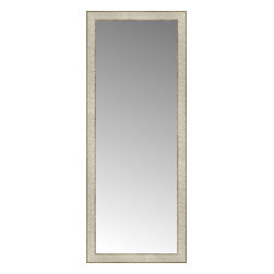 """Posters 2 Prints, LLC - 18"""" x 44"""" Libretto Antique Silver Custom Framed Mirror - 18"""" x 44"""" Custom Framed Mirror made by Posters 2 Prints. Standard glass with unrivaled selection of crafted mirror frames.  Protected with category II safety backing to keep glass fragments together should the mirror be accidentally broken.  Safe arrival guaranteed.  Made in the United States of America"""