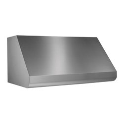 Broan - Broan E6048TSS Series 18 x 48-inch Professional Stainless Steel Hood - The internal blower stainless steel range hood is designed to duct out of the hood shell in either horizontal or vertical direction with any blower configuration. This 48-inch hood includes features such as variable speed control and heat detection.