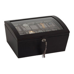 Mele Jewelry - Mele and Co. Royce Watch Box with Lock in Java - Mele Jewelry - Jewelry Boxes - 00688S12