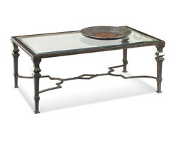 Bassett Mirror Company - Bassett Mirror T1210-100 Lido Rectangular Cocktail Table - Traditional Rectangular Cocktail Table in Burnished Bronze Finish on Metal belongs to Lido Collection by Bassett Mirror Company Bassett Mirror is fluent in this art, showing a terrific contemporary furniture that will satisfy on the one hand fans of home coziness, and on the other hand - seekers of non-standard design solutions also. One of the many strengths of the Bassett Mirror is using high quality materials for perfect embodiment of brilliant design ideas. Cocktail Table (1)