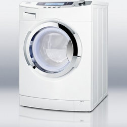 """Summit - SPWD1800 24"""" Washer/Dryer Combo with 13 lb. Wash Capacity and Ventless Drying - SUMMIT SPWD1800 offers full laundry convenience in a 24 wide 1000 RPM washerdryer combo for non-vented use This front-loading 110V washerdryer features 6 wash cycles 4 temperature settings and 4 dry settings allowing you to give a variety of fabrics ..."""