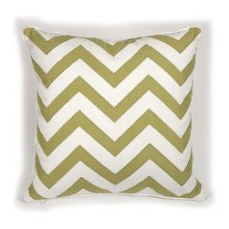 IMAX CORPORATION - Essentials Green Apple Pillow - With a green apple color, this pillow features an embroidered chevron pattern and looks lovely in a variety of color palettes. Essentials by Connie Post Collection. Find home furnishings, decor, and accessories from Posh Urban Furnishings. Beautiful, stylish furniture and decor that will brighten your home instantly. Shop modern, traditional, vintage, and world designs.
