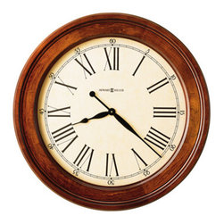 HOWARD MILLER - Howard Miller Grand Americana Gallery Wall Clock - This large wall clock features:
