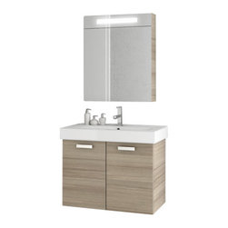ACF - 28 Inch Larch Canapa Bathroom Vanity Set - Add this designer-quality, contemporary bath vanity to your already contemporary & modern personal bathroom.