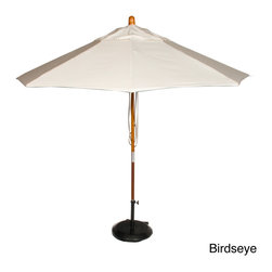 Phat Tommy - Phat Tommy Marenti Wood Market 9-foot Sunbrella Patio Umbrella - The Phat Tommy 9-foot Marenti Wood Market Umbrella is part of the Outdoor Oasis line. It is a high-quality umbrella, featuring a Sunbrella fabric construction that is more naturally fade resistant under prolonged sun exposure.