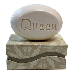 New Hope Soap - Scented Soap Bar Personalized – Queen, Lemon Verbena - Personalized Scented Soap Bar Gift Set Engraved with Queen