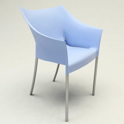 Kartell - Dr. NO Chair, Set of 2, Matte Light Blue - Designed by Philippe Starck.