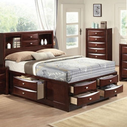 Acme Furniture - Ireland Espresso Finish Eastern King Bed - 21596EK - Ireland Collection Eastern King Bed