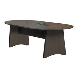 Mayline - Mayline Brighton 8' Wood Racetrack Conference Table with Slab Base-Cherry - Mayline - Conference Tables - BTCT8LCR - This Brighton oval shaped conference table is part of Mayline's most affordable line of Real Office casegoods. with its durable and stylish all-laminate construction, it provides the strength and affordability you expect, with the added security of a limited lifetime warranty.