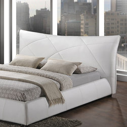 Baxton Studio - White Corie Modern King Platform Bed - Featuring luxurious tufted details and a plush headboard, this king-size bed encourages night after night of cozy sleep while touching the décor with upscale sophistication.   Mattress and bedding not included 94'' W x 45'' H x 92'' D Faux leather / hardwood / plywood / medium-density fiberboard / foam Imported