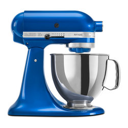KitchenAid - KitchenAid RRK150EB Electric Blue 5-quart Artisan Tilt Head Stand Mixer (Refurbi - Ten speeds and a unique mixing action make this mixer from KitchenAid a welcome addition to any kitchen. This 5-quart mixer includes a power hub for additional attachments.