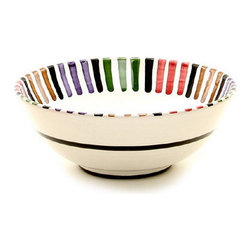 Artistica - Hand Made in Italy - Bello: Salad Bowl (Medium) - The Circo-Bello collection is an exclusive product from Deruta of Italy designed by Bill Goldsmith.