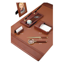 "Bey-Berk - Tan Leather Desk Pad - The tan leather desk pad is an excellent corporate gift that can be combined with any of the matching desk accessories.Made of genuine smooth tan leather the desk pad measures 20"" x 34"" .The desk pad would be an amazing addition to any desk and the perfect gift for the office.        * Desk Pad Accessories Sold Separately"
