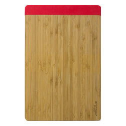 Architec Housewares™ - Architec™ Fuse Gripperbamboo™ Cutting Board, Red, 8x12 - Featuring the same patented technology as our Plastic Grippers, our patented gripper base is fused to the bamboo cutting surface. No adhesives added! This listing is for one cutting board.