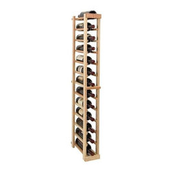 Wine Cellar Innovations - 4 ft. 1-Column Individual Wine Rack (Premium Redwood - Midnight Black Stain) - Choose Wood Type and Stain: Premium Redwood - Midnight Black StainBottle capacity: 13. One column wine rack. Versatile wine racking. Custom and organized look. Beveled and rounded edges. Ensures wine labels will not tear when the bottles are removed. Can accommodate just about any ceiling height. Optional base platform: 5.19 in. W x 13.38 in. D x 3.81 in. H (5 lbs.). Wine rack: 5.19 in. W x 13.5 in. D x 47.88 in. H (3 lbs.). Vintner collection. Made in USA. Warranty. Assembly Instructions. Rack should be attached to a wall to prevent wobble