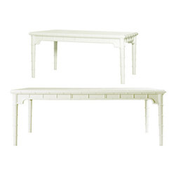 Chloe Dining Table with Extension Leaf - This is the dining table of my dreams. It would look great paired with some upholstered chairs in a vibrant fabric. This piece has amazing detailing on it that echoes back to the Palm Beach style of the 1970s.
