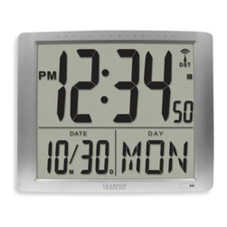 La Crosse - La Crosse Extra Large Atomic Digital Wall Clock - This extra-large display digital wall clock is great for an office, lobby, conference room or other big area. It sets itself to the absolutely accurate time, and adjusts automatically for daylight saving time, too.
