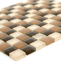 SALE ITEMS - GM0099 - Square Frost Glass Mosaic, Mix Brown – SALE